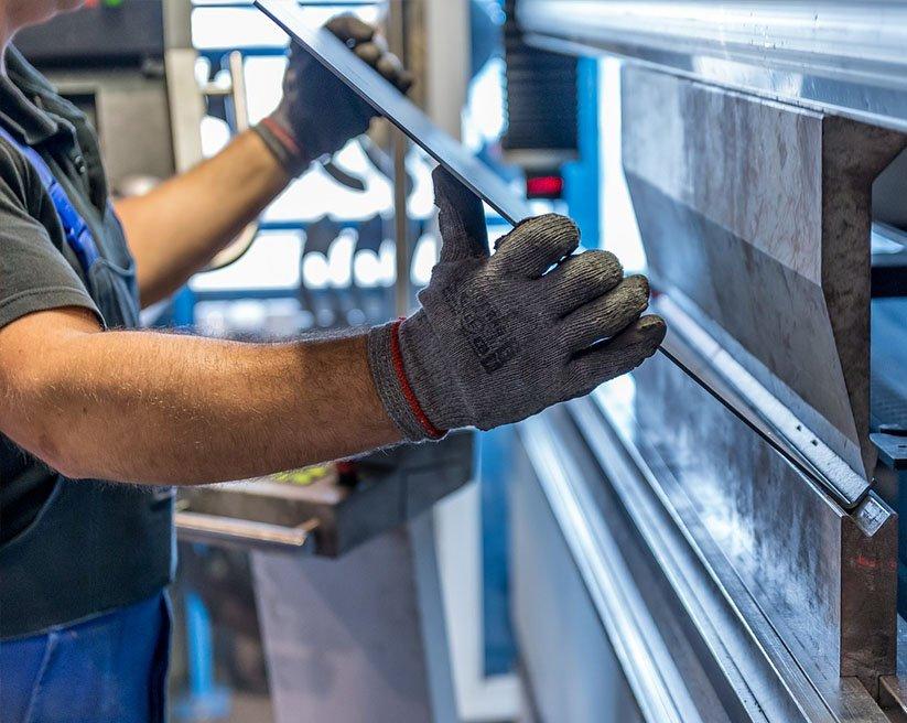 Metal sheet bending press machine